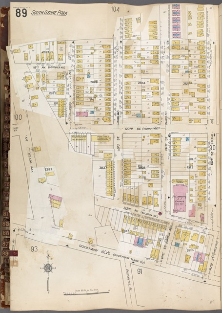Queens V. 6, Plate No. 89 [Map bounded by 142nd St., Rockaway Blvd., Van Wyck Ave.]