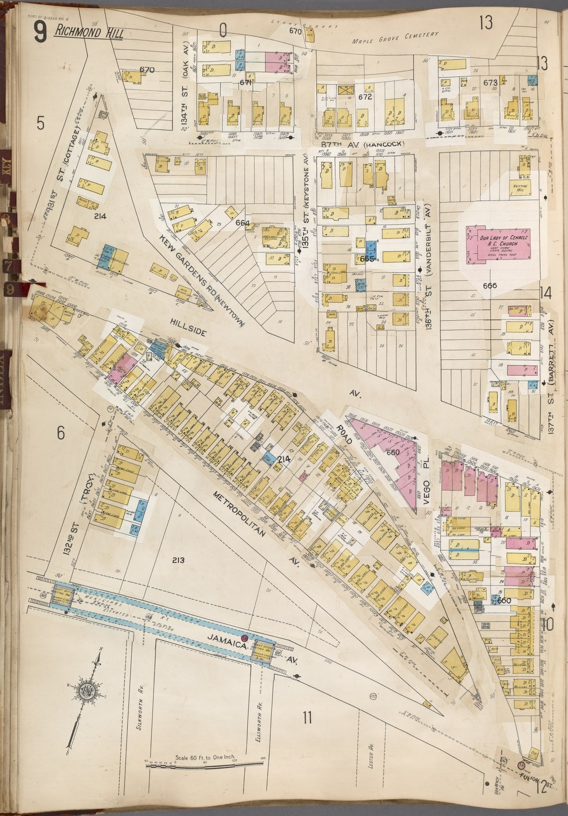 Map Of New York Jamaica.Queens V 6 Plate No 9 Map Bounded By 137thst Jamaica Ave