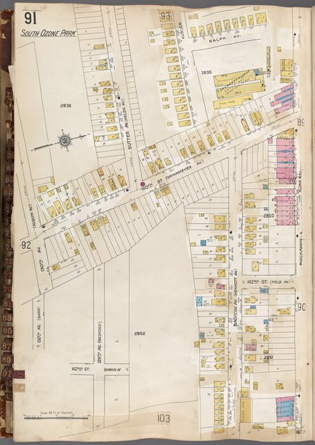 Queens V. 6, Plate No. 91 [Map bounded by Ralph Ave., Rockaway Blvd., 130th Ave.]