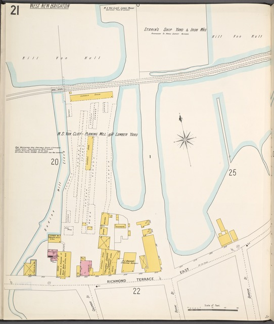 Richmond, Plate No. 21 [Map bounded by Richmond Terrace East, Bodine Mill Creek]