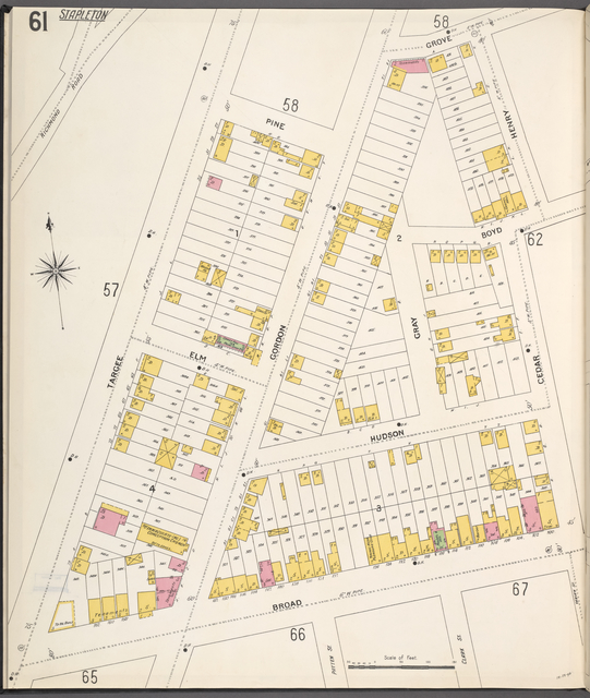 Richmond, Plate No. 61 [Map bounded by Grove, Cedar, Henry, Broad, Targee]