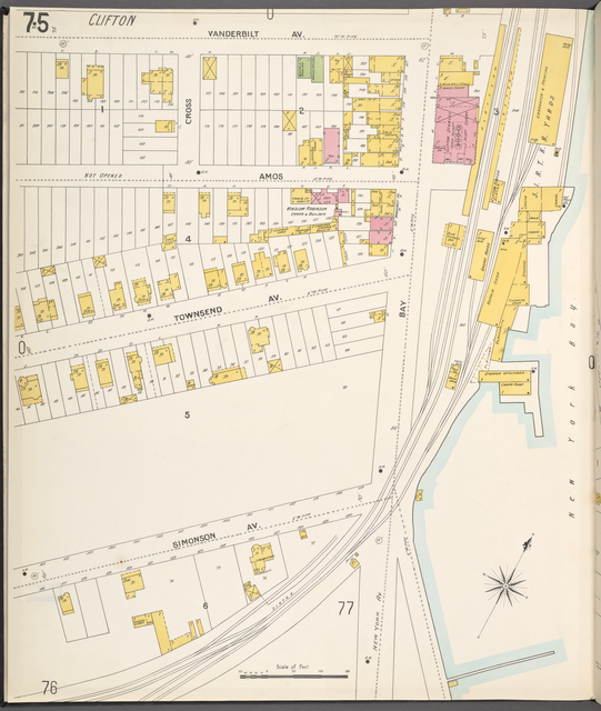 Richmond, Plate No. 75 [Map bounded by Vanderbilt Ave., New York Bay]
