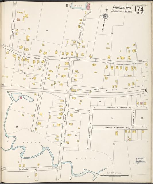 Staten Island, V. 2, Plate No. 174 [Map bounded by Terrace Ave., Elizabeth Pl., Excelsior Ave.]