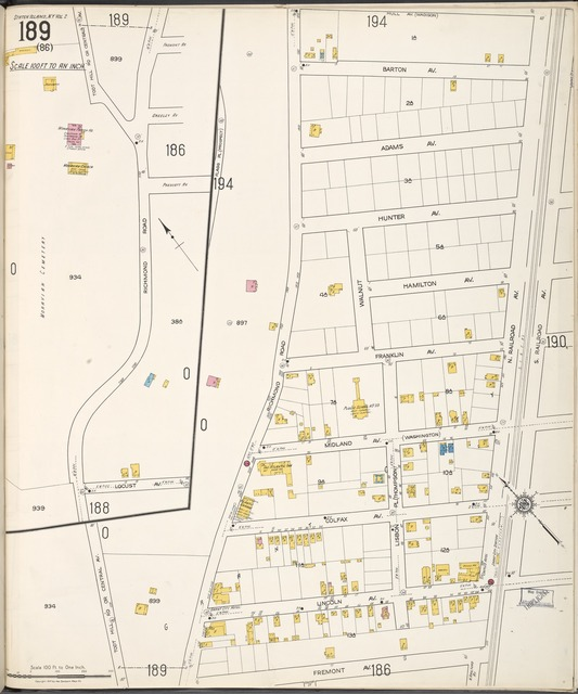 Staten Island, V. 2, Plate No. 189 [Map bounded by Hull Ave., S. Railroad Ave., Fremont Ave., Richmond Rd.]