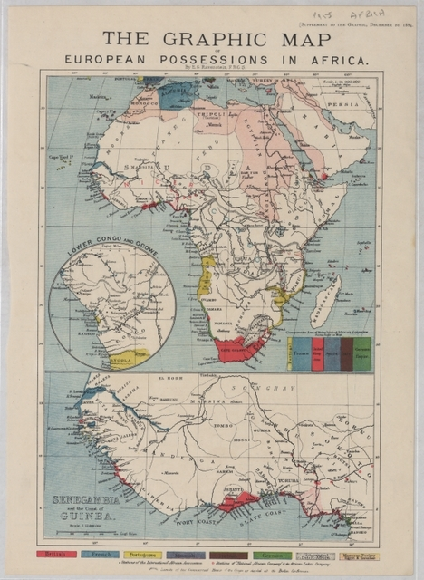 The Graphic map of European possessions in Africa