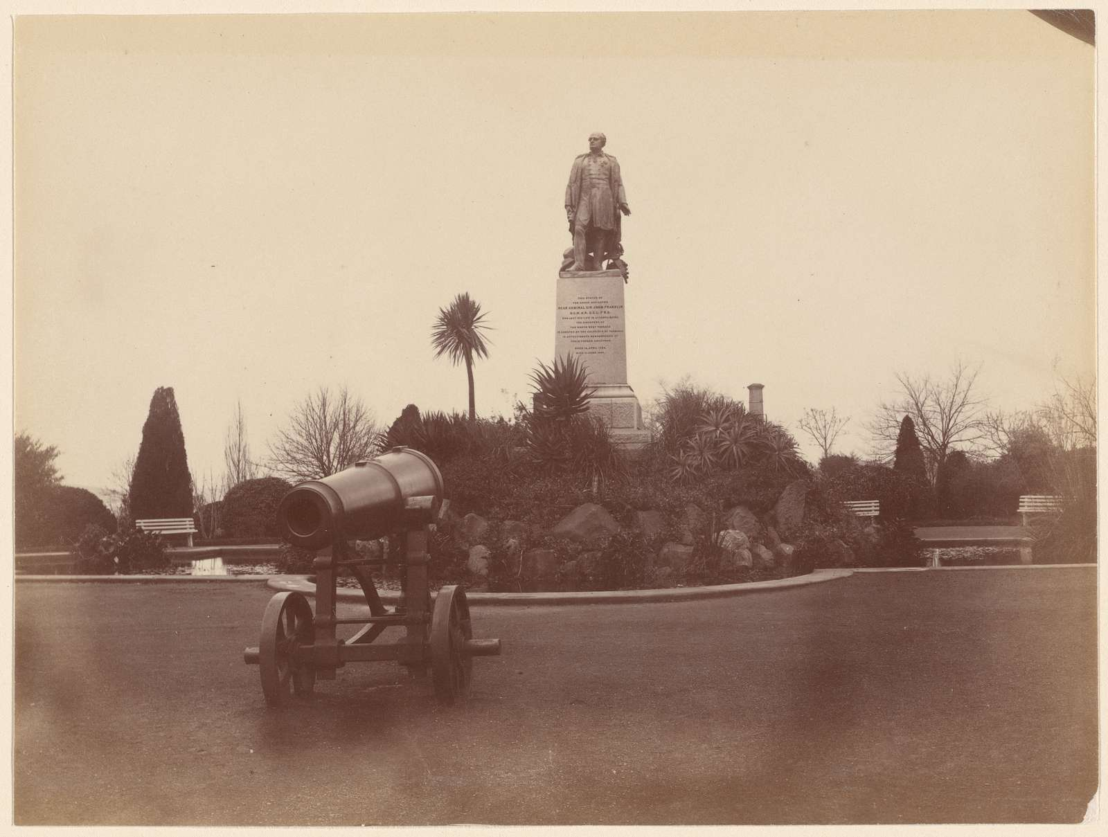 Cannon and statue