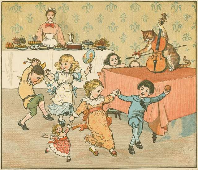 Hey, diddle, diddle, the cat and the fiddle.