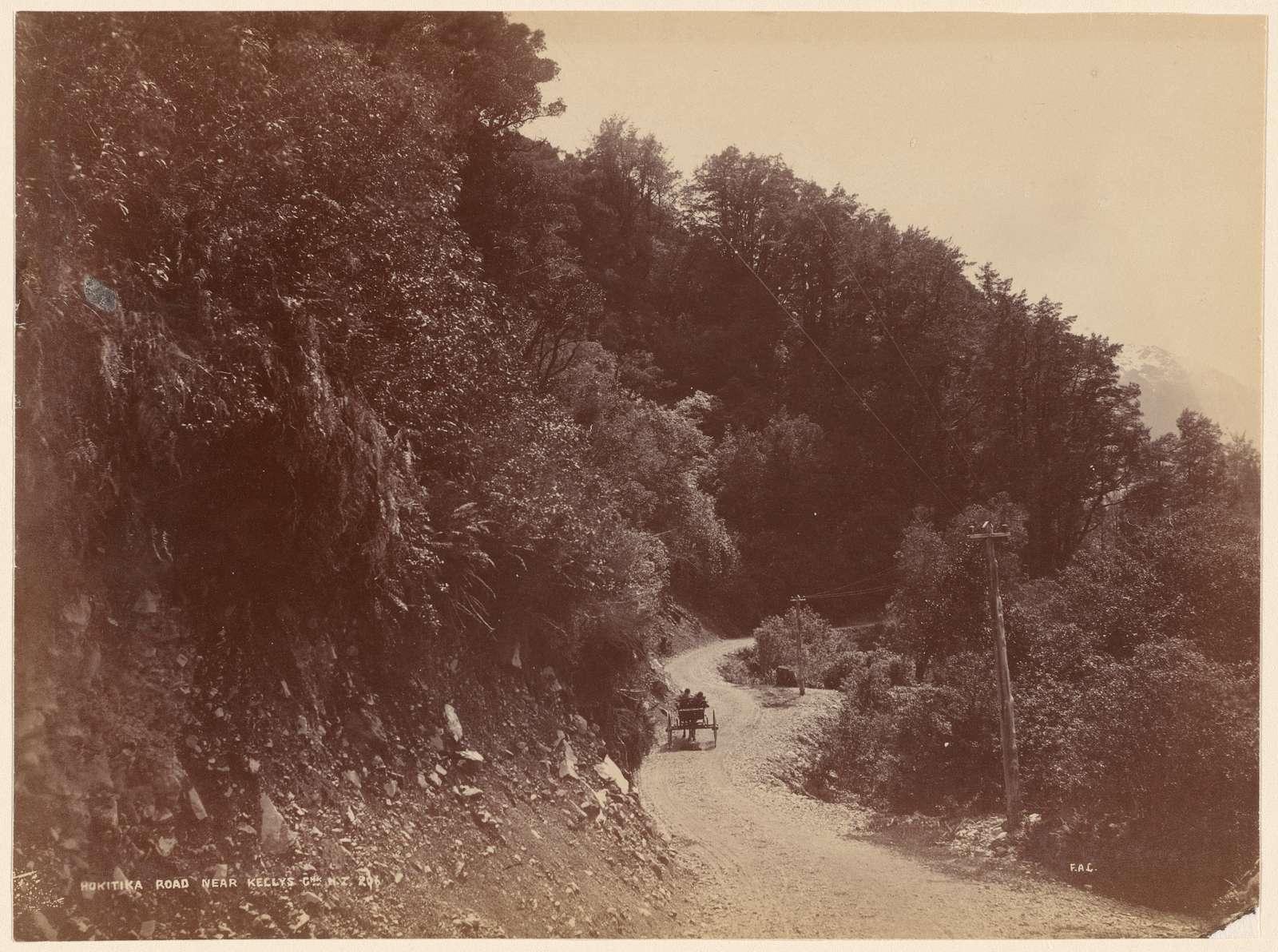 Hokitika Road near Kelly's G[...], N. Z.