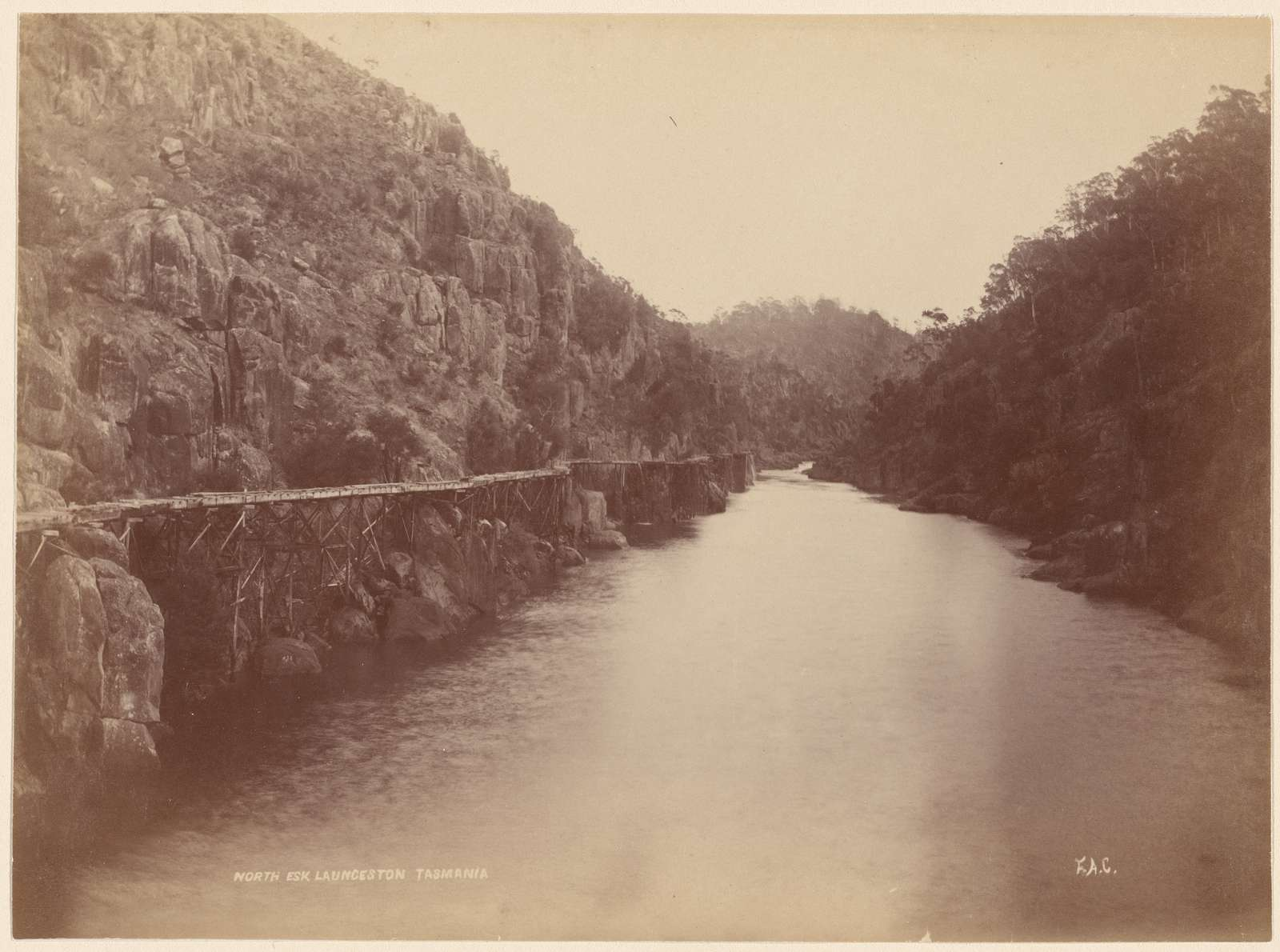 North Esk. Launceston, Tasmania
