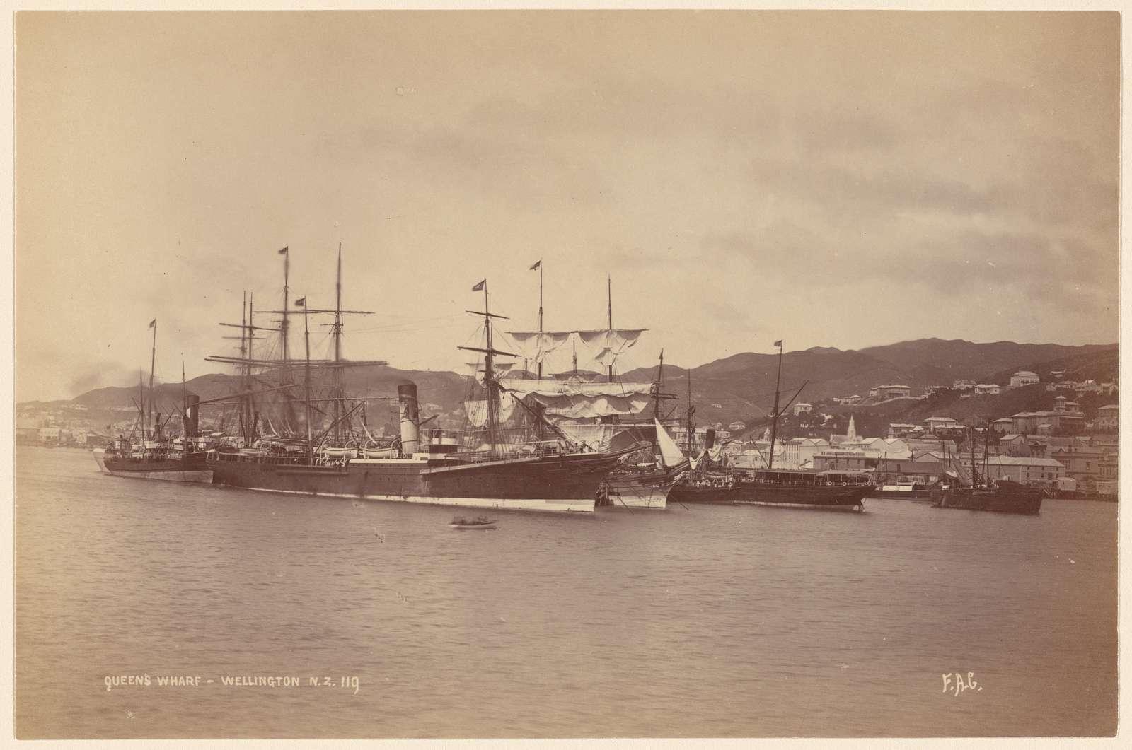 Queen's Wharf. Wellington, N. Z.