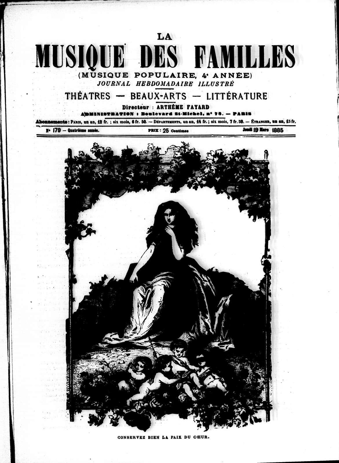 La Musique populaire, Vol. 4, no. 179