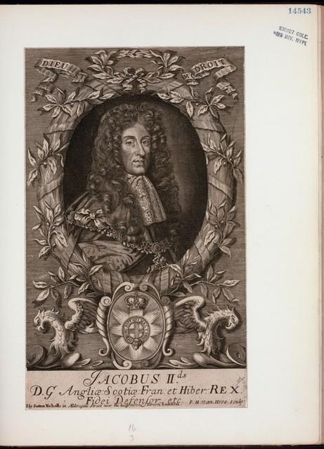 Jacobus IIds, D.G. Angliae, Scotiae, Fran. et Hiber. rex, fidei defensor etc.