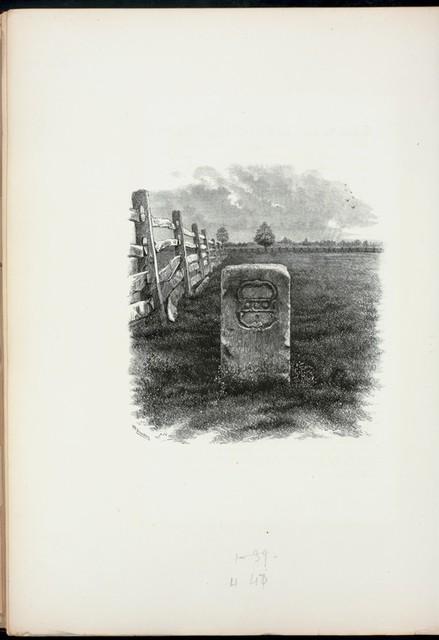 Mason and Dixon's line stone, near Oxford, Chester Co., Pa.
