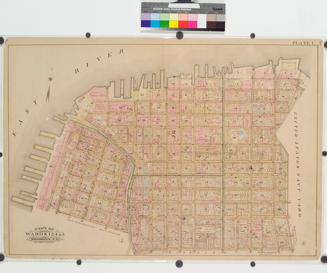 [Plate 1: Pier area from the Navy Yard to Clark Street.]