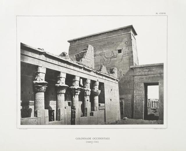 Colonnade occidentale  (Temple d'Isis, A).