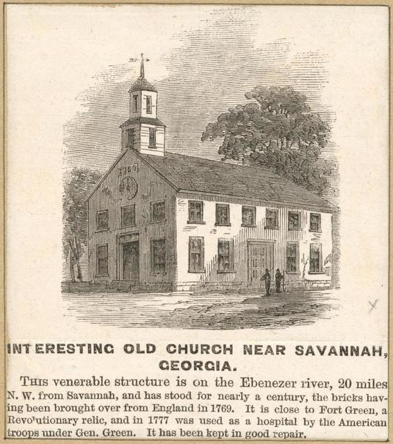 Interesting old church near Savannah, Georgia