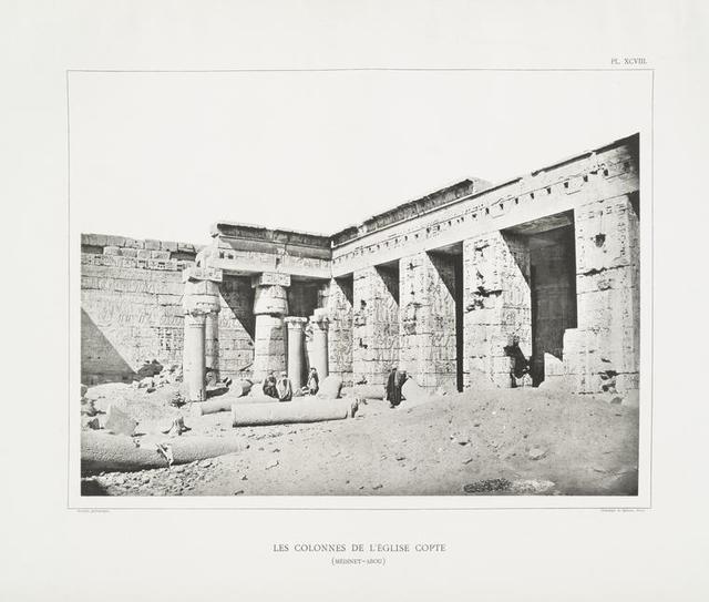 Les colonnes de l'église copte (Médinet-Abou).