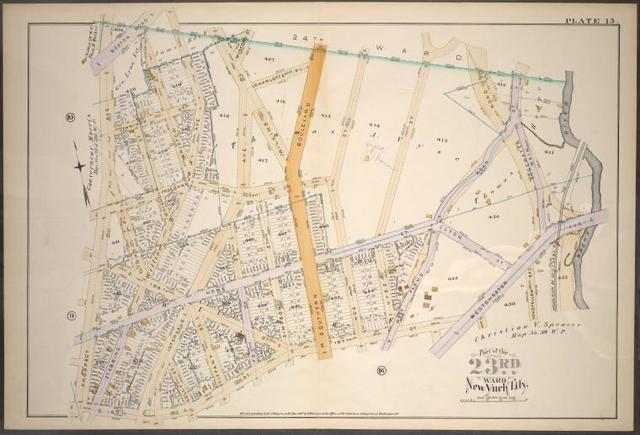 Plate 15: [Bounded by Boston Road, Stebbins Ave., Freeman St.,  Intervale Ave., Wilkins Pl., Charlotte Pl., Southern Blvd., Freeman St., Hoe St., Home St., West Farms Road, Main St., Westchester Ave., E. 167th St. and Prospect Ave.]