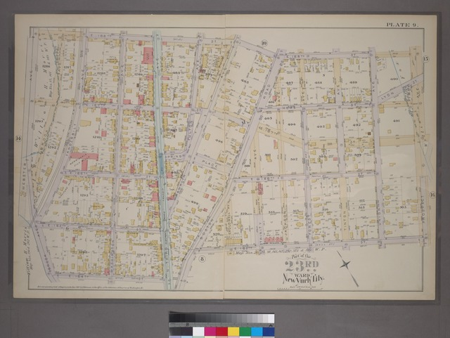Plate 9: [Bounded by E. 168th St., Prospect Ave., E. 165th St., Boston Road, N. Third Ave., E. 164th St., Brook Ave. and Webster Ave.]