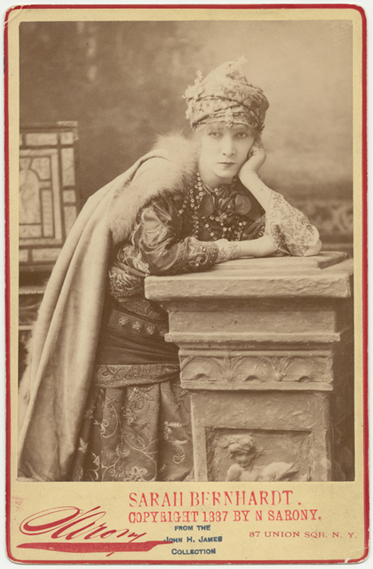Publicity photograph of Sarah Bernhardt in the role of Adrienne Lecouvreur.