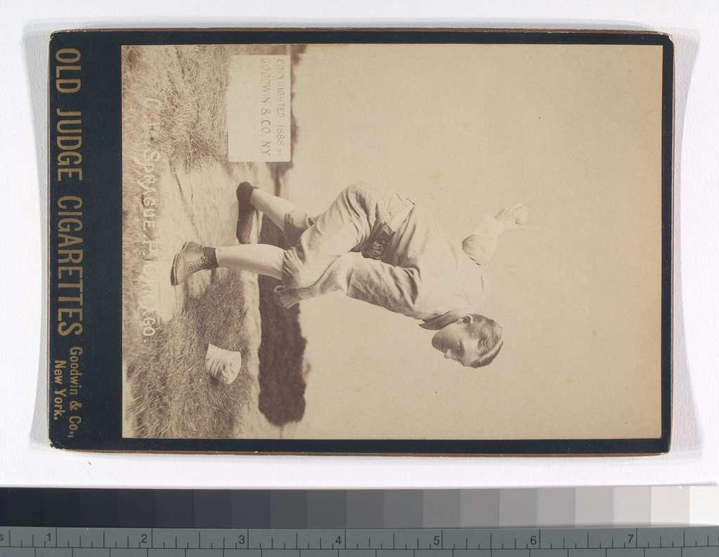Charlie Sprague, Chicago White Stockings, Pitcher, Old Judge Cigarettes