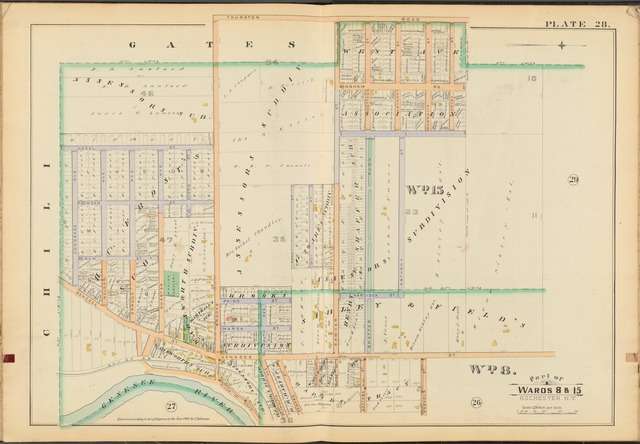 Rochester, Double Page Plate No. 28 [Map bounded by Thurston Rd., Genesee River]