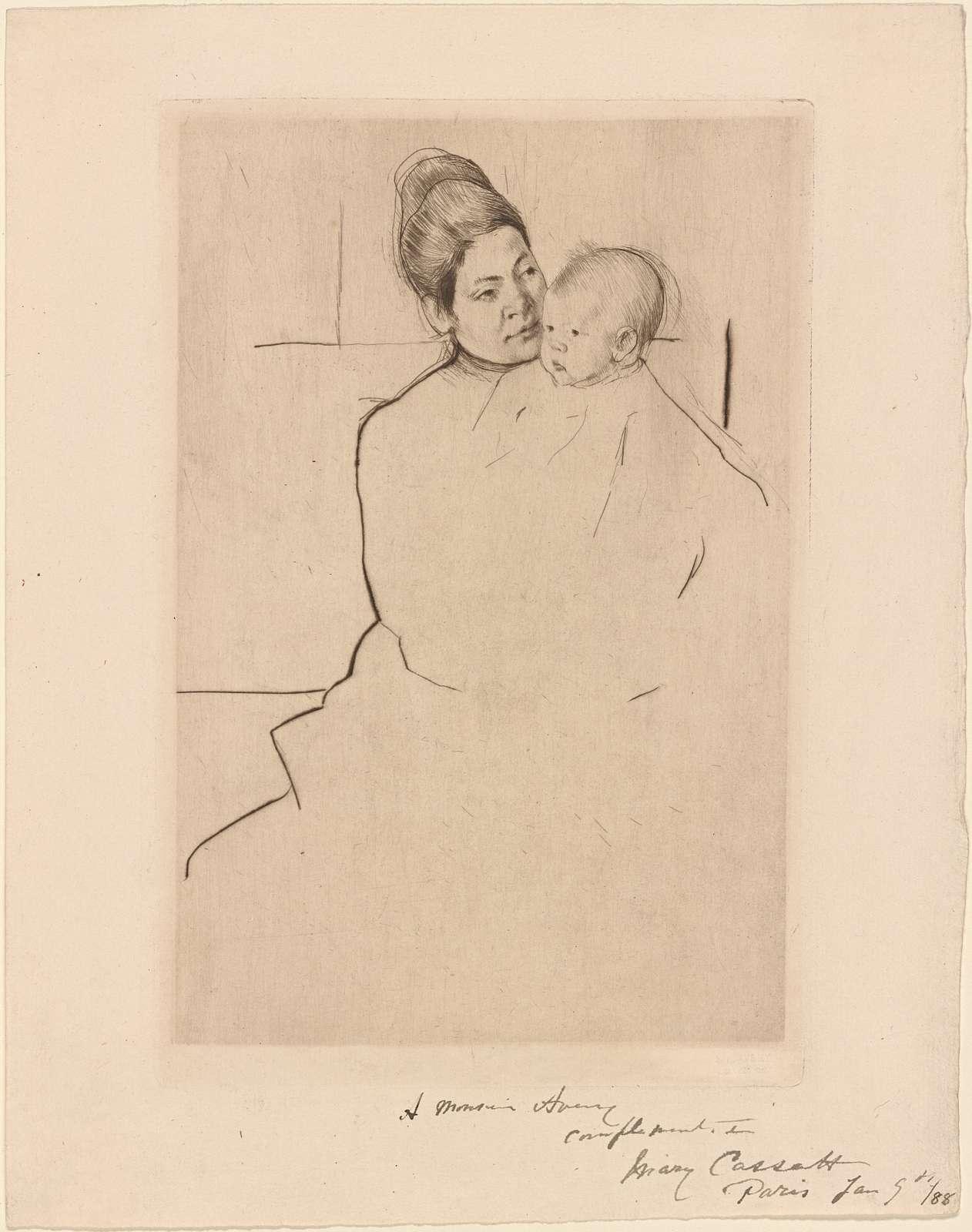 Gardner held by his mother.
