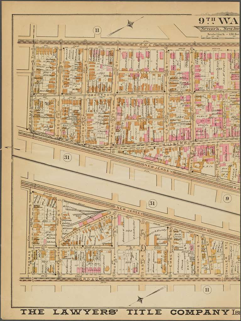 Newark, Double Page Plate No. 10 [Map bounded by Broad St., Fair St., Oak St., Thomas St.]
