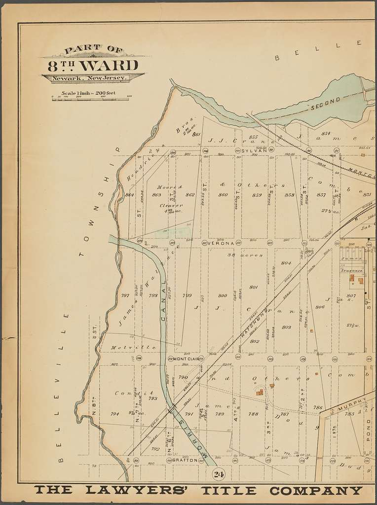 Newark, Double Page Plate No. 22 [Map bounded by Second River, Summer Ave., Grafton Ave., N. 8th St.]