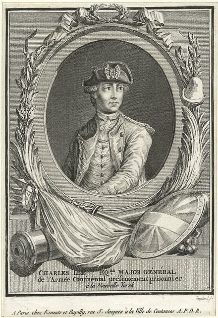 Charles Lee Eqer. Major General de l'Armee continental pesentement prisonnier a la Nouvelle Yorck