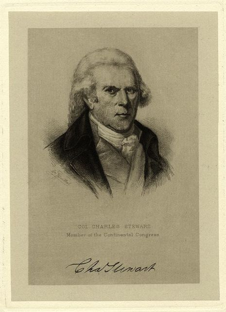 Col. Charles Stewart, member of the Continental Congress.