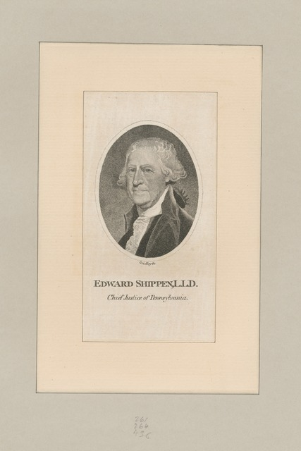 Edward Shippen, L.L.D. Chief Justice of Pennsylvania