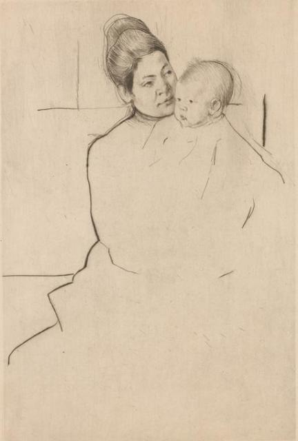 Gardner held by his mother.