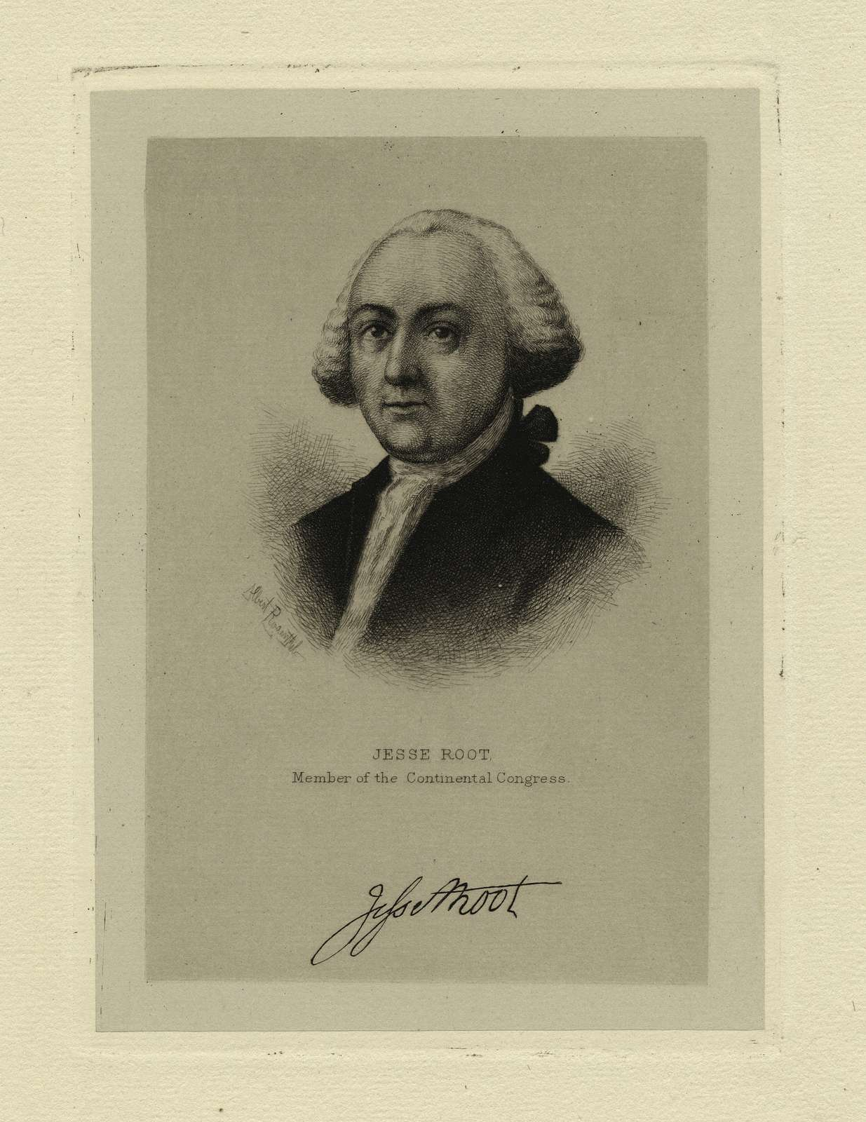 Jesse Root, member of the Continental Congress.