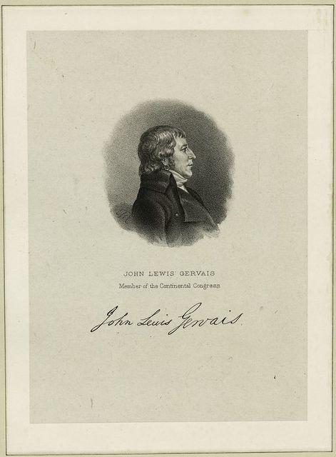 John Lewis Gervais, member of the Continental Congress.