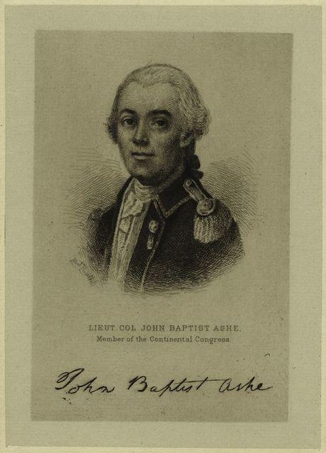 Lieut. Col. John Baptist Ashe, member of the Continental Congress.