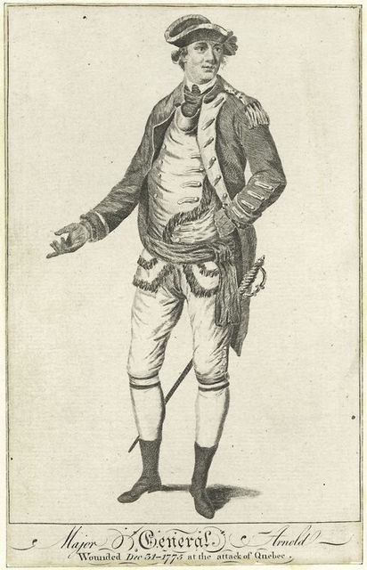 Major General Arnold wounded December 31 1776 at the attack of Quebec