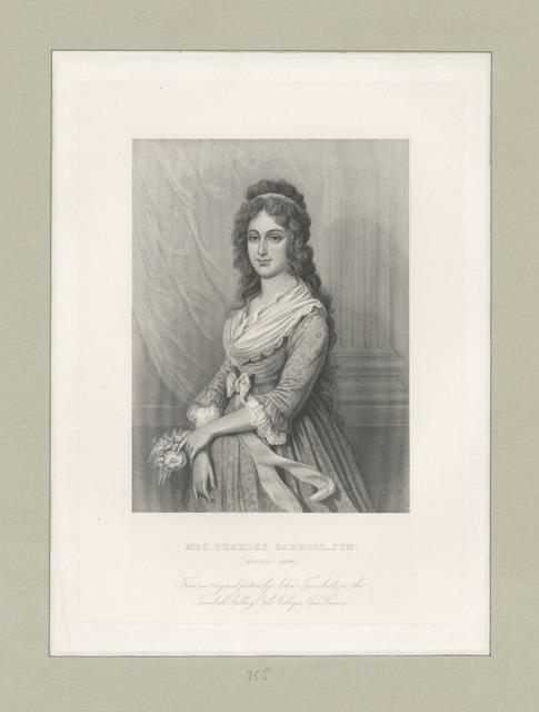 Mrs. Charles Carroll, Jun. (Harriet Chew)