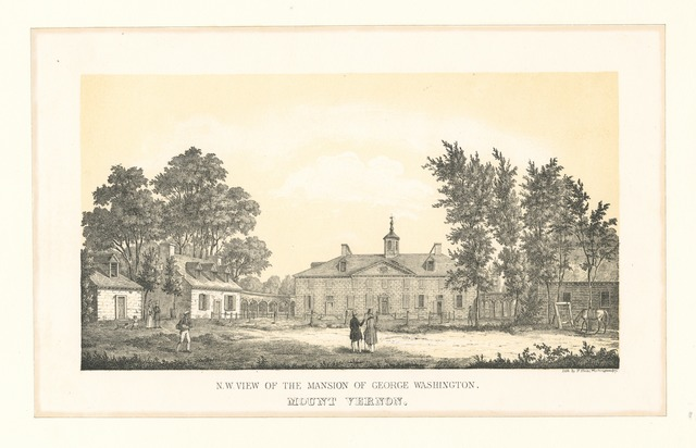 N.W. view of the mansion of George Washington, Mount Vernon