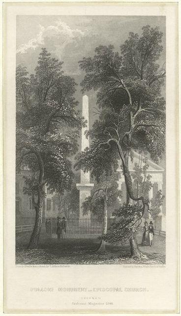 Pulaski Monument - Episcopal Church, Savannah