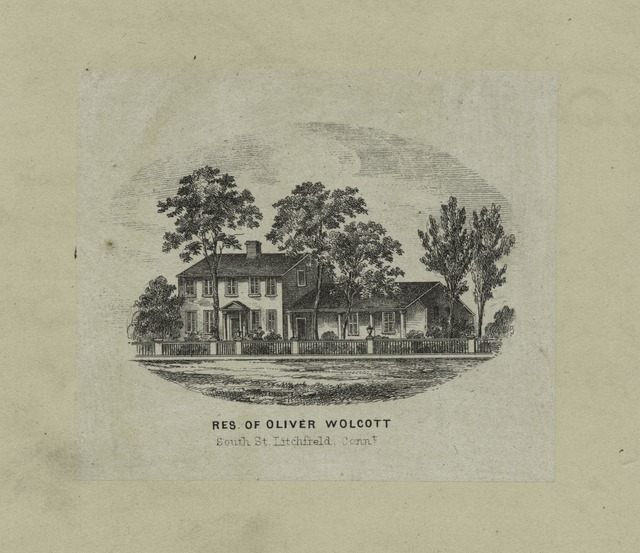 Res[idence] [of] Oliver Wolcott, South St., Litchfield County.