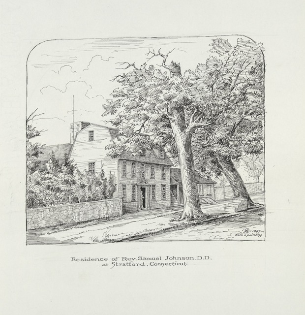 Residence of Rev. Samuel Johnson D.D. at Stratford, Connecticut.