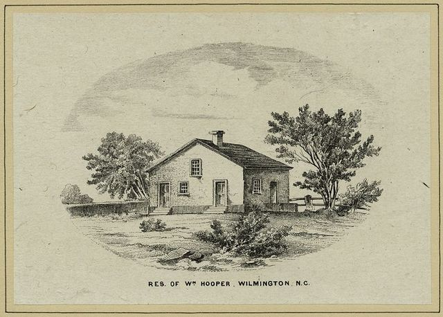 Res[idence] of Wm. Hooper, Wilmington, N.C.