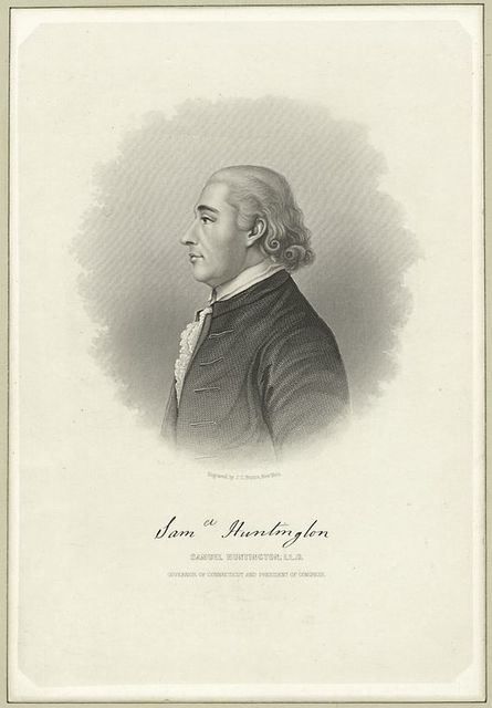 Samuel Huntington, LL.D., governor of Connecticut and president of Congress.
