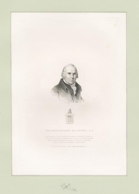 The Revd. Robert Blackwell, D.D....