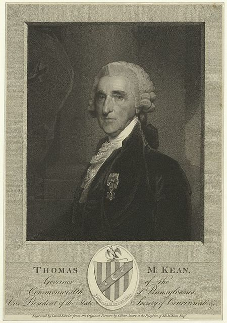 Thomas McKean, governor of the commonwealth of Pennsylvania, vice president of the State Society of Cincinnati.