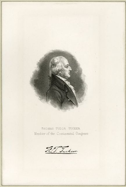 Thomas Tudor Tucker, member of the Continental Congress.