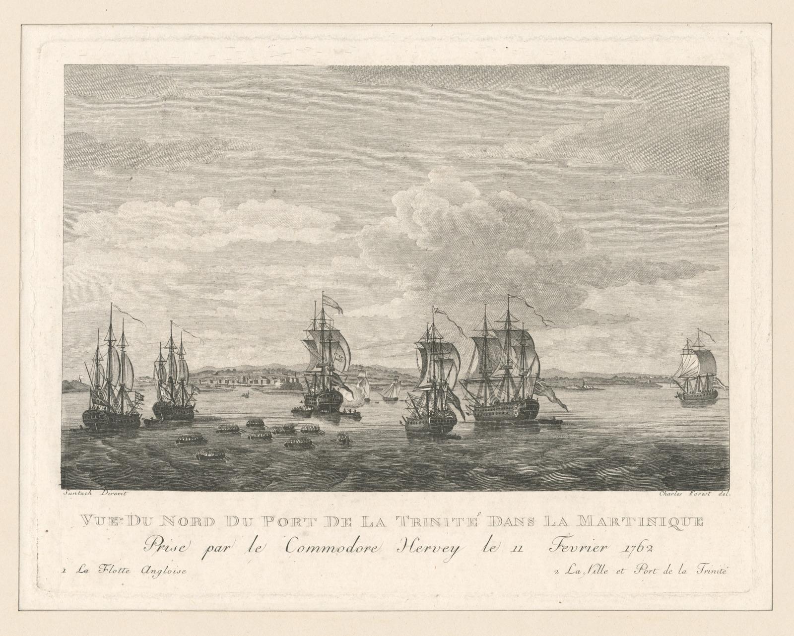 Vue du nord du port de la Trinite dans la Martinique