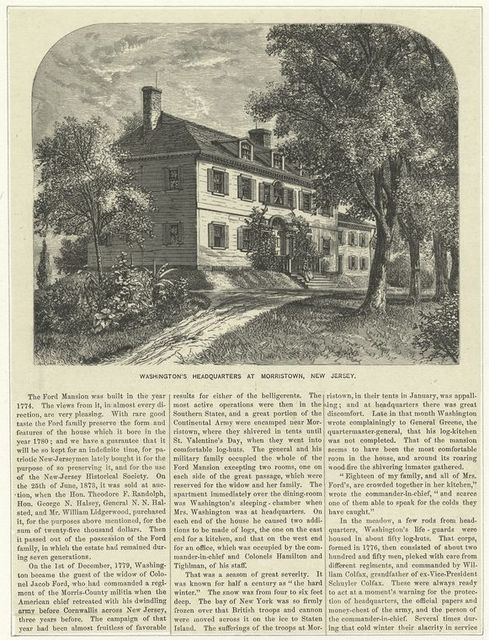 Washington's headquarters at Morristown, New Jersey