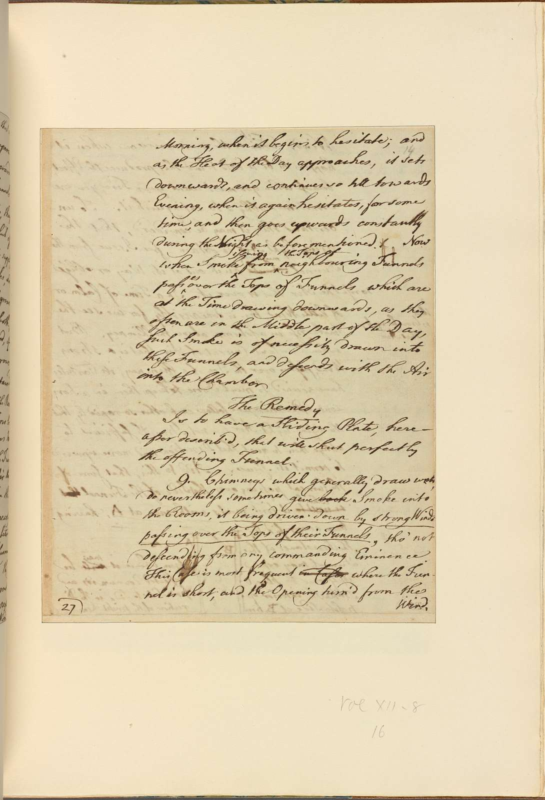 Letters on Smoky Chimneys. 1762–1785. Thos. Addis Emmet M.D.